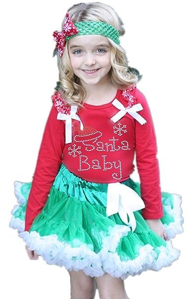 Vestido de Navidad para Papá Noel bebé rojo L/S camiseta ...