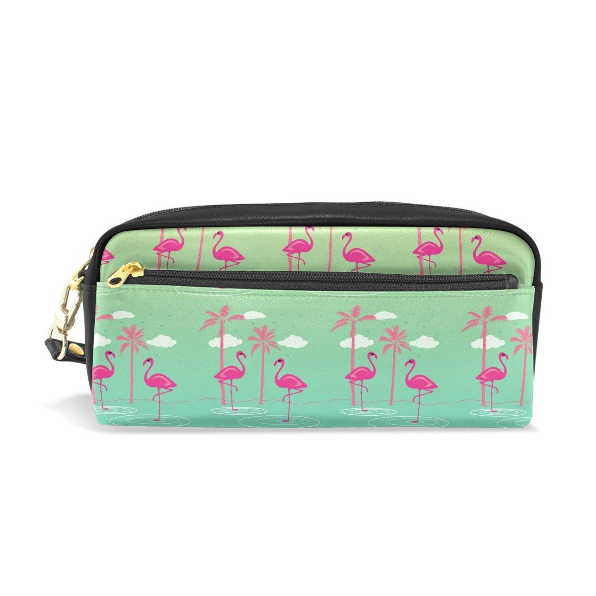 BENNIGIRY Flamingo Bleistift Fall tragbar Pen Tasche Student Schreibwaren Pouch PU Leder Groß Kapazität Reißverschluss Make-up Kosmetiktasche B078NH96LG     | Qualitätsprodukte