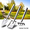 Garden Tools Set 3 Piece Stainless Steel Mini Gardening Kit Rust-resistant Tools Best for Digging & Planting