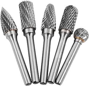 5 Pcs//lot Head Tungsten Carbide 8MM Rotary Point Burr Die Grinder 6mm Shank Bit
