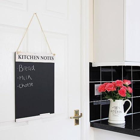 Cucina notes lavagna, Legno, White, A3 - 300 x 420mm: Amazon.it ...