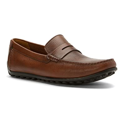 28fa35271bb CLARKS Men s Hamilton Way Driving Style Loafer Cognac Leather 70 ...