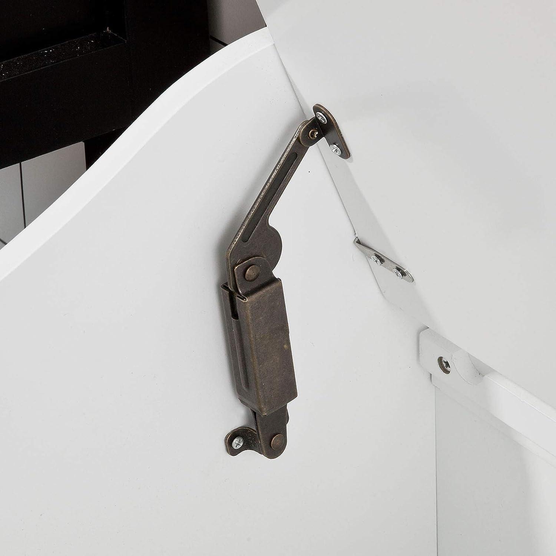 bianco FSR40-W,IT Panca Contenitore SoBuy/® Cesto portabiancheria con Sacco per Biancheria