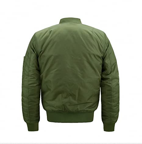 Amazon.com: Bomber Jacket Men Thick Jacket Military Air ...