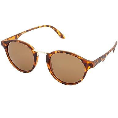 City Vision Damen Herren Polarisierende Retro Sonnenbrille 21617, Rahmenfarbe:Schwarz, Linsenfarbe:Schwarz