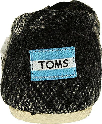 Toms Womens Classico Tessuto Slip-on Grigio Nero Lana Testurizzata