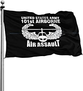 BIJNyzeshposiqnal US Army 101st Airborne Air Assault Flag Garden Flag 4x6 Outdoor Flag