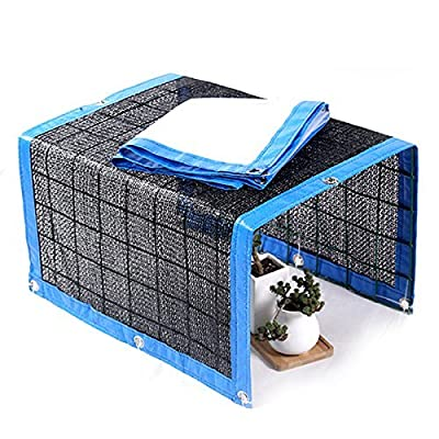 WINGOFFLY Foldable Plant Canopy with Shade Cloth and Rainproof Cover 75% Sunblock Balcony Sun Shade Net for Succulents Flowers (16.6