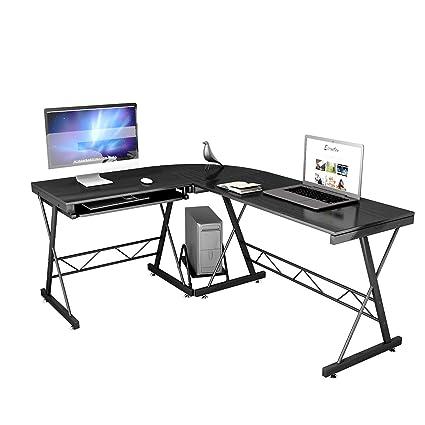 Charmant Tangkula 67u0026quot; L Shaped Desk, Corner Desk Home Office Desk, Computer  Workstation PC