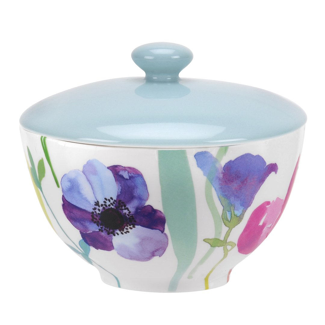 Portmeirion Water Garden Covered Sugar Bowl