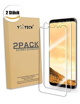 Galaxy S8 Protector de pantalla [2 Unidades][no vidrio], Yootech LiQuidSkin Wet Applied burbujas contra Samsung Galaxy S8 HD claro caso agradable película: ...