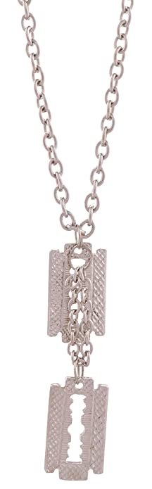 Twin blade shaped gents chain locket steel tone 18 inch long chain twin blade shaped gents chain locket steel tone 18 inch long chain altavistaventures Image collections