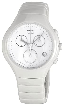 f8c401df0b8 Image Unavailable. Image not available for. Color  Rado Diastar True  Chronograph White Ceramic Mens Watch Quartz Calendar R27832702