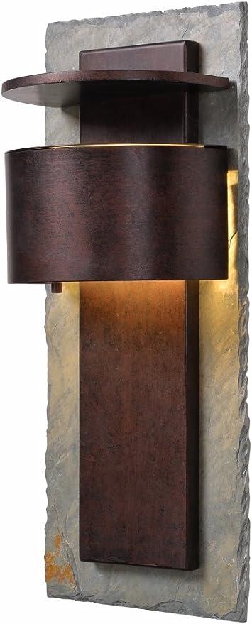 Natural Slate 70282COP Kenroy Home Boulder 1 Light Large Wall Lantern