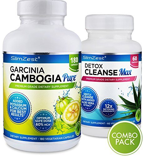 Garcinia Cambogia Pure Detox Max Combo Full Weight Loss Course With 180 Garcinia Cambogia Extract And 60 Natural Cleanse Detox Diet Pills
