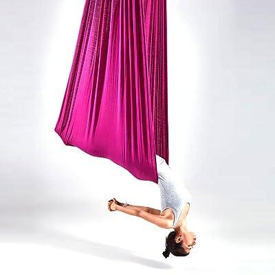 Alger Ceinture extensible de yoga de yoga de hamac de yoga de haute altitude pour les débutants, 400 * 280cm