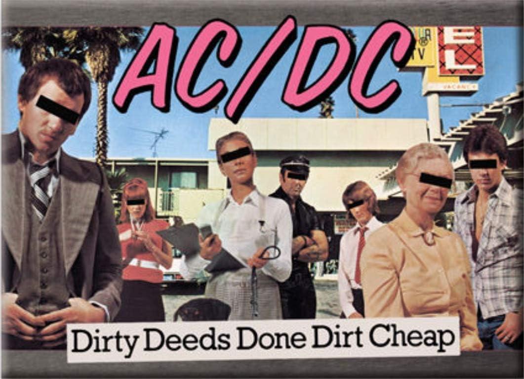 Imán para Nevera con Licencia AC/DC Dirty Deeds Done Dirt (NM ...