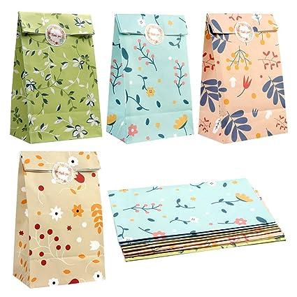 Amazon.com: PartyTalk - 48 bolsas de regalo con diseño de ...