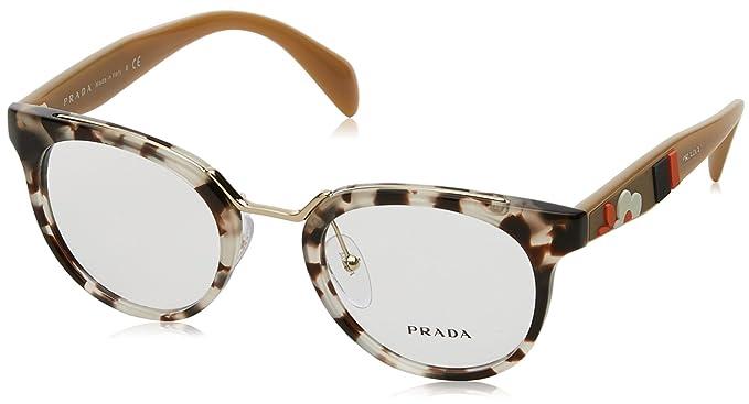 cec1ca72c7d Eyeglasses Prada PR 3 UV UAO1O1 SPOTTED OPAL BROWN  Amazon.ca ...