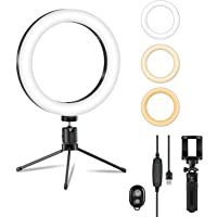 Sebider LED Selfie Ring Light with Two Tripod Stands for YouTube Video Live Stream Makeup Photography