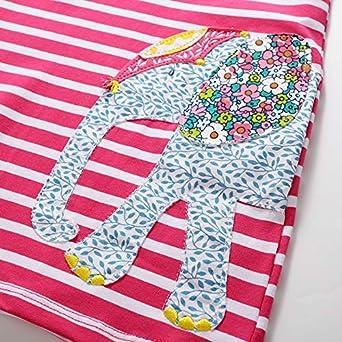 DXTON Little Girl Children Kid Summer Short Sleeve Cotton Dresses