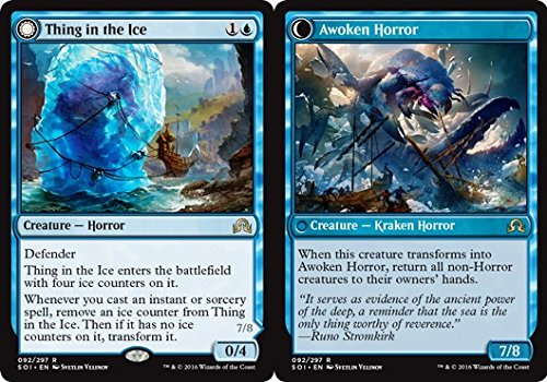 Magic: the Gathering - Thing in the Ice // Awoken Horror (092/297) - Shadows Over Innistrad - Foil
