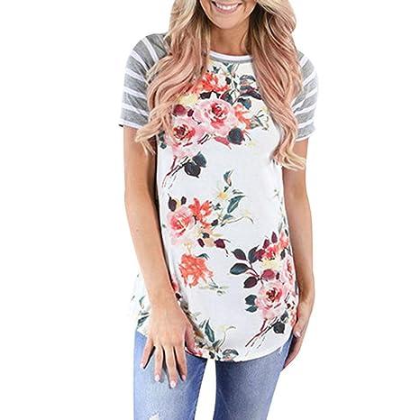 Yeamile💋💝 Camiseta de Mujer Tops Negro Blusa de Verano Ocasionales Casual Tops de las