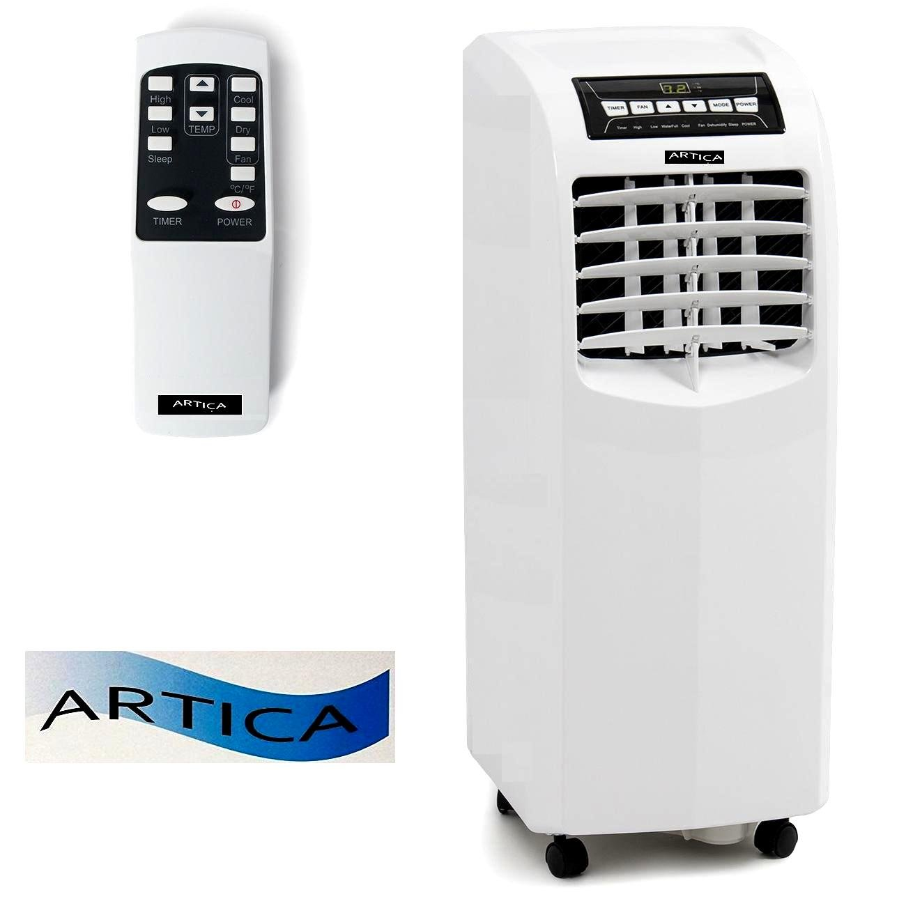 ARTICA USA ARC-10B 10,000 BTU Portable Air Conditioner / AC Extreme cool rooms with Remote Control, White 10000BTU by ARTICA USA