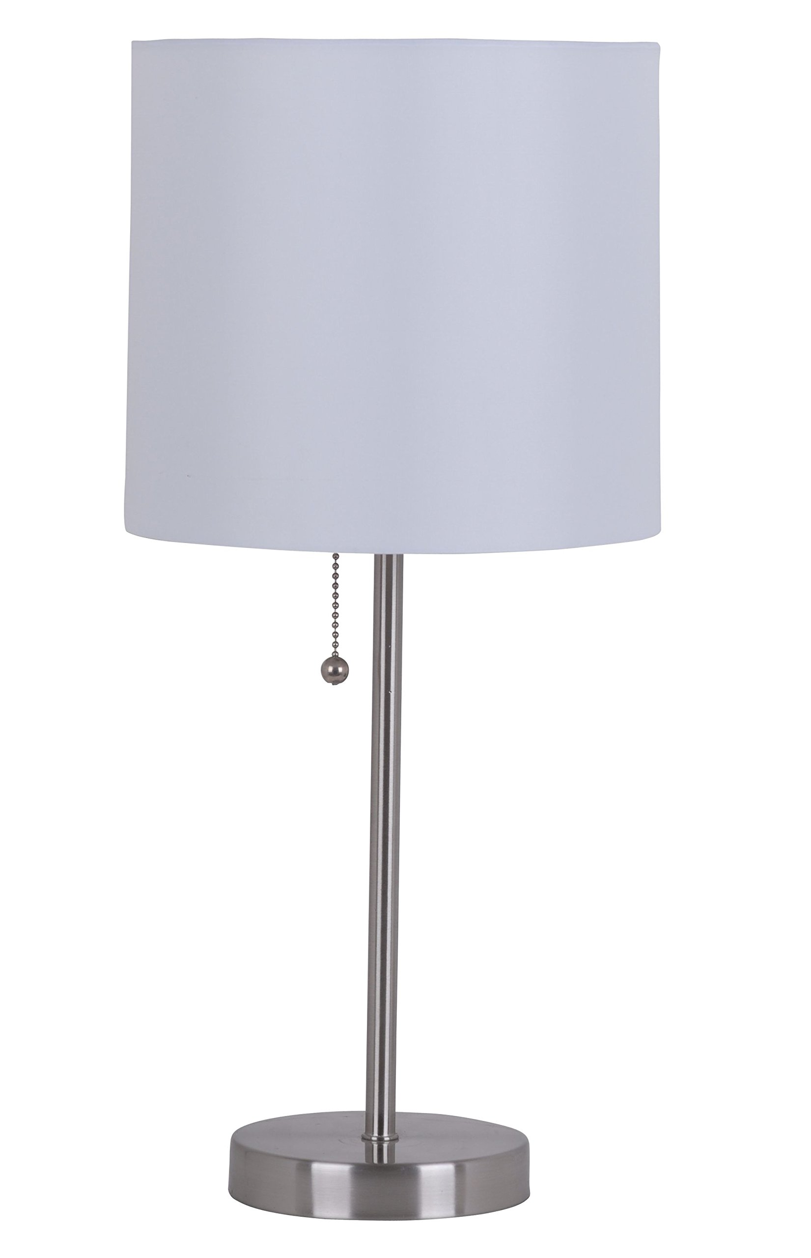 Catalina Lighting 17842-030 Jayden Metal Stick, Table lamp, Brushed Steel