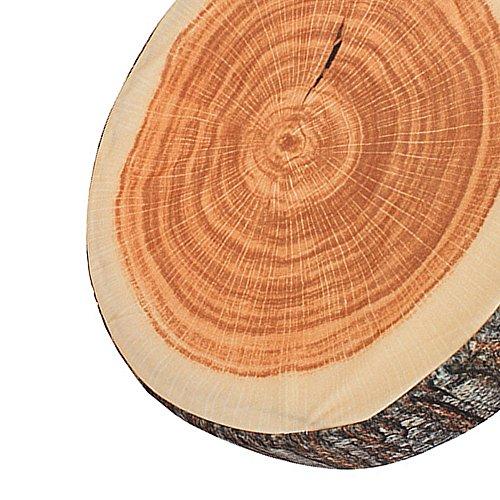 BQLZR Brown Wood Tree Round Soft Plush Chair Seat Cushion Decorative Throw Pillow Tree Ring Back Cushion by BQLZR (Image #4)