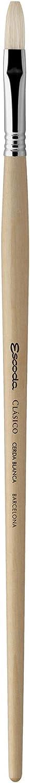 Chungking Hog Bristle Speedball Art Products 4729-0 Escoda Clasico Series Long Handle Artist Paint Brush Size 0