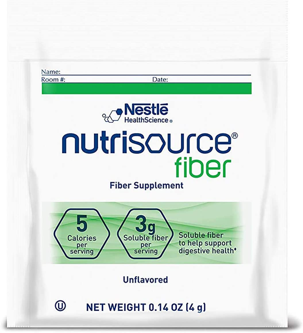 NutriSource Fiber Supplement Powder Packets, Unflavored, (0.14 oz Each), 75 Count
