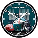 "Philadelphia Eagles Super Bowl LII Champions 12.75"" Round Clock By Wincraft"