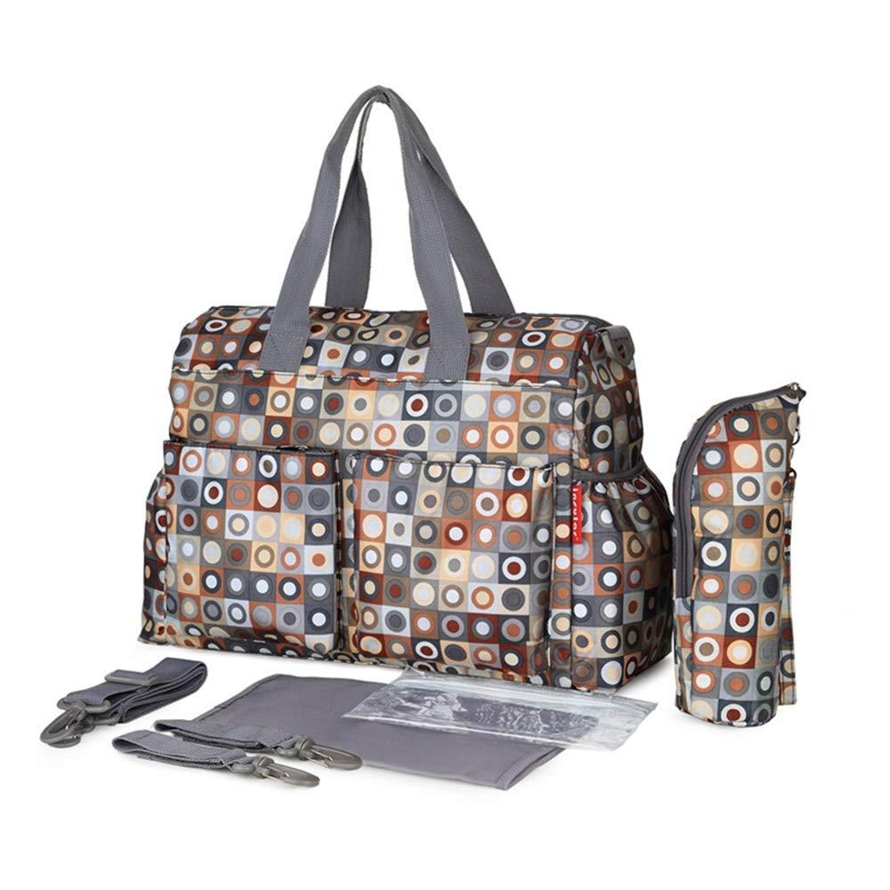 Baby Pram Buggy Storage Bag Stroller Organizer Pram Bag Multifunctional Mummy Bag with Detachable Hooks (Color : E, Size : 37x16x30cm)