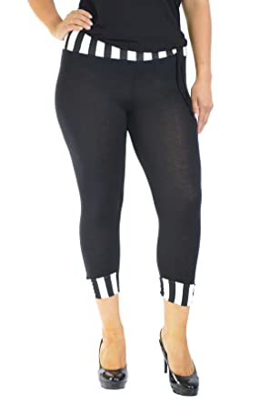 f64af681997c5 Nouvelle Womens Plus Size Nouvelle Cropped 80 S Leggings Sizes 12-14 to 24-26   Amazon.co.uk  Clothing