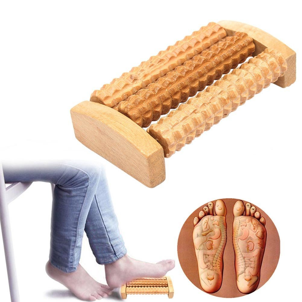 Bazaar Fitness Relax Health Wooden Roller Foot Care Roller Massager Big Bazaar