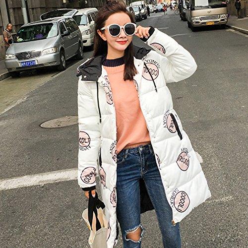 Xuanku Winter Coats Women 'S Cotton Coats Long Coats White