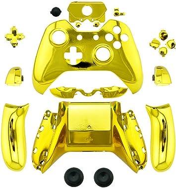 Canamite - Carcasa de repuesto para mando de Xbox One con conector de 3,5 mm dorado: Amazon.es: Electrónica