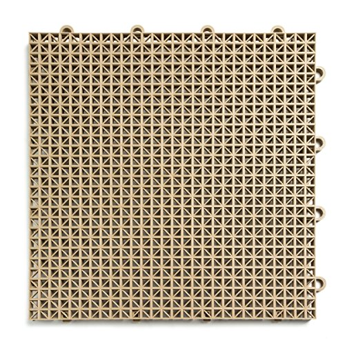 DuraGrid 12″ x 12″ Interlocking Deck and Patio Tiles, Pack of 30, Beige