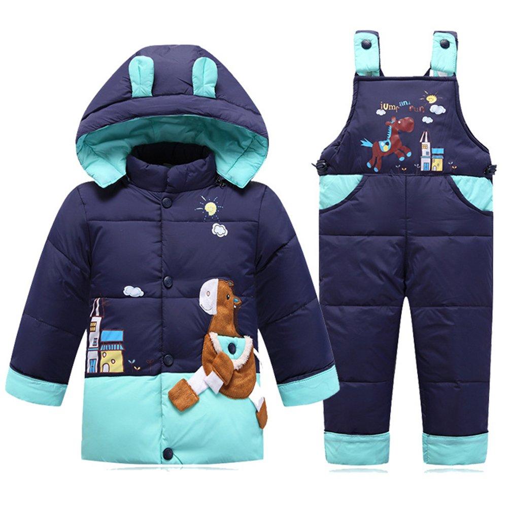 Baby Bekleidungsset Kinder Set Daunenjacke Bekleidungsset Baby Kinder Junge M/ädchen Verdickte Winterjacke Winterhose Kleinkind Daunenhose Mantel