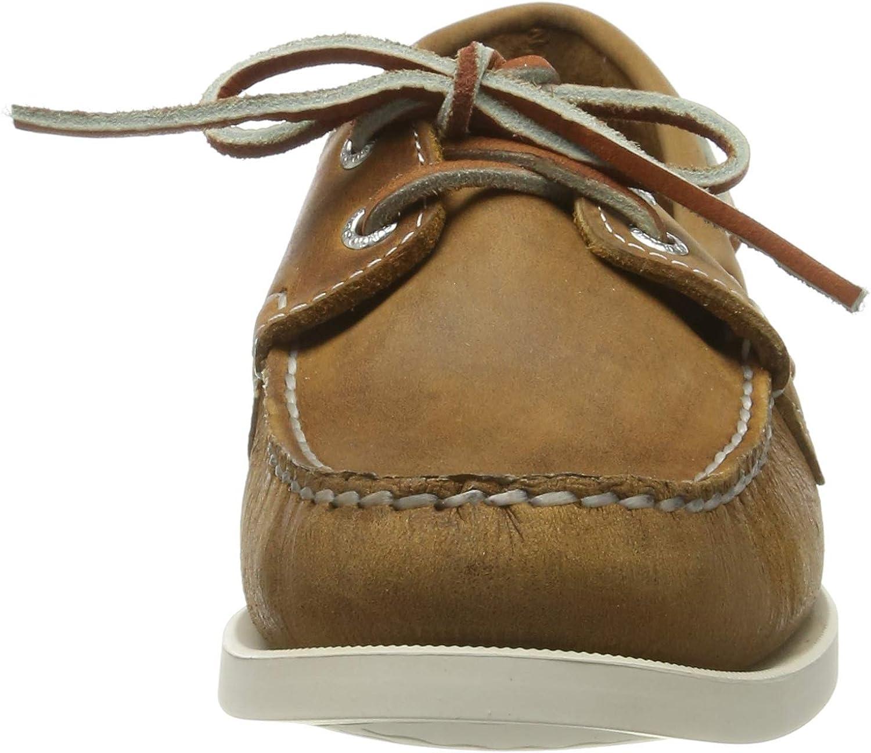6.5 UK Uomo Men/'s 7000GD0 Boat Shoes Brown-Gum 925 Sebago Schooner FGL Waxed