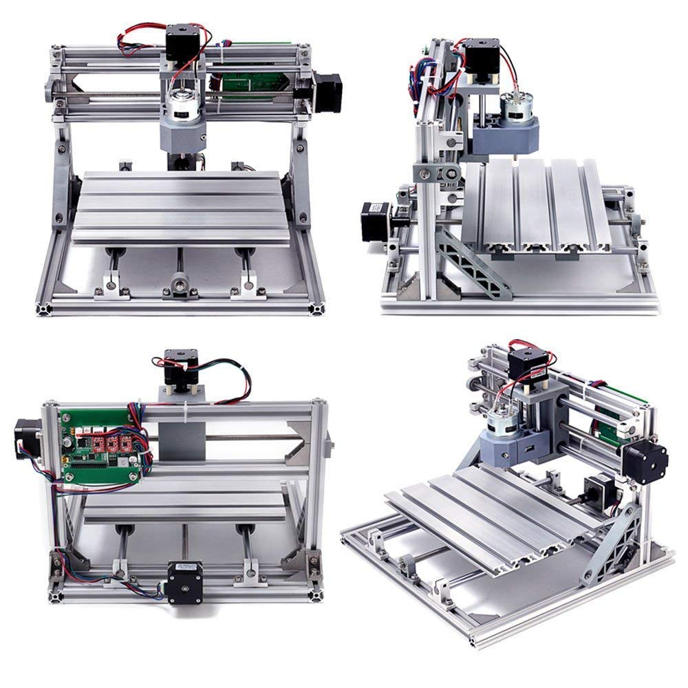 Diy Cnc Router Kits 2418 Grbl Control 3 Axis Plastic Acrylic Pcb Pvc Heavy Duty Printed Circuit Board Cutting Machine Wood Carving Milling Engraving Xyz Working Area 240x180x45mm