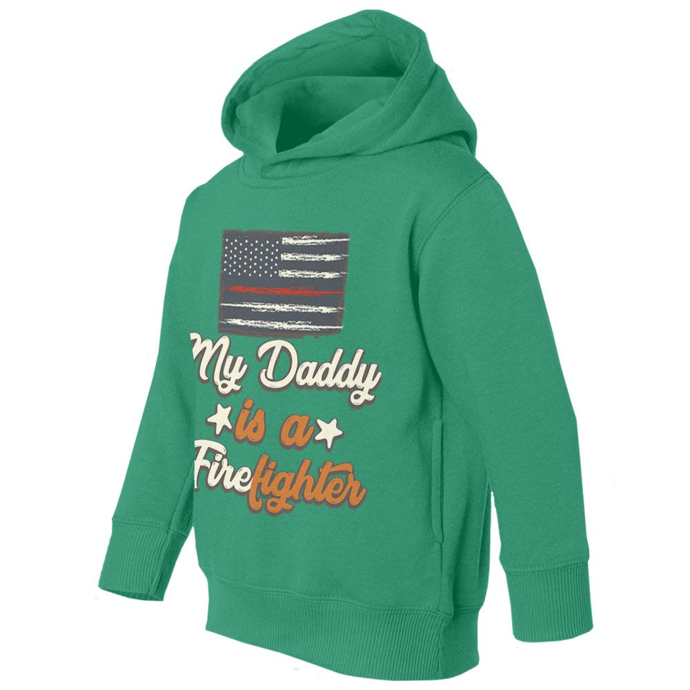 Fireman Daddy is A Firefighter Graphic Youth /& Toddler Hoodie Sweatshirt