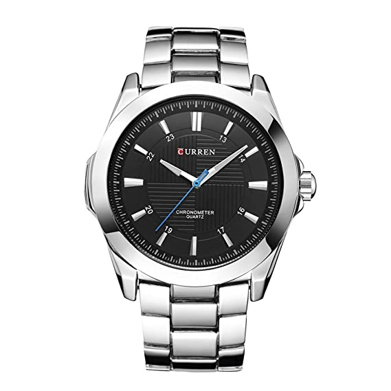 Relogio Masculino CURREN Relojes Hombres Reloj de Cuarzo Reloj de la Marca Superior Impermeable Negro Dial Relojes Masculinos: Amazon.es: Relojes