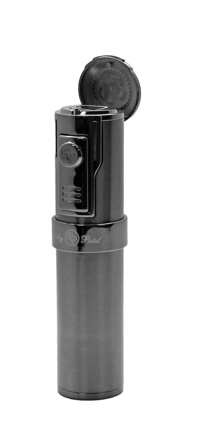 Rocky Patel Cigar Lighter Diplomat 5 Torch Lighters with Punch - Gun Metal