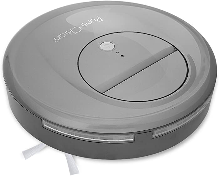Pyle Upgraded Pure Clean Smart Robot Vacuum Sweeper Cleaner w/ Self-Navigated Automatic Robotic Floor Cleaning Ability in Selectable Mode - Built in Rechargeable Battery w/ LED Light PUCRC17