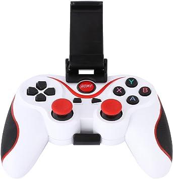 Amazingdeal365 - Mando para videojuegos con joysticks inalámbrico por Blueetooth con soporte ajustable para teléfonos Smartphones Android, tabletas, ordenadores, televisores Smart TV y con cajas de TV: Amazon.es: Electrónica
