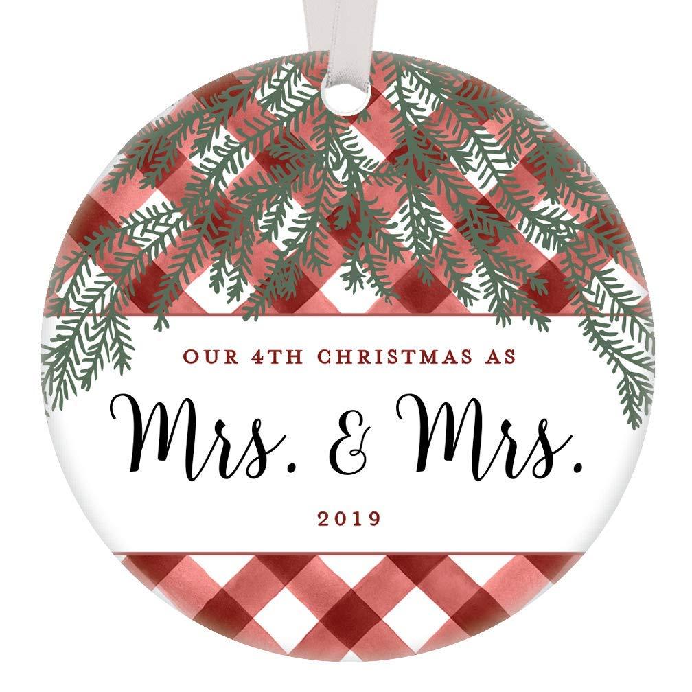 Amazon Com Our 4th Christmas Mrs Mrs Ornament 2019 Lesbian
