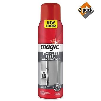 Amazon.com: Limpiador de aerosol de acero inoxidable mágico ...