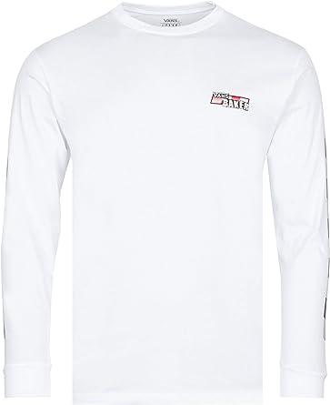 Vans - Camiseta para Baker Speed Check Long Sleeve White Bianco XL: Amazon.es: Ropa y accesorios
